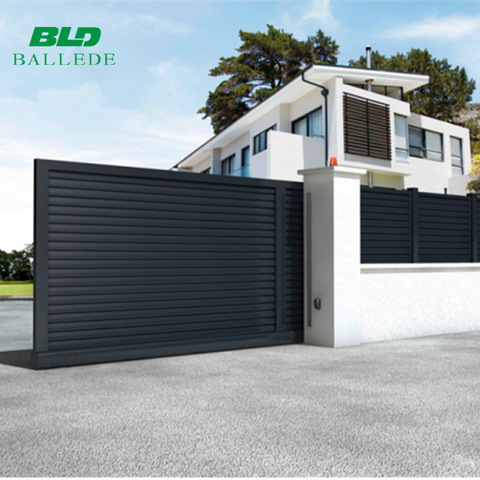 Custom size outdoor aluminum automatic house main sliding driveway gate designs