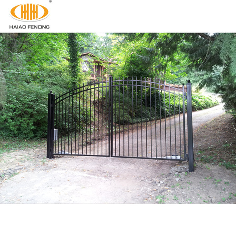 Decorative wrought iron gates simple modern steel wrought ...