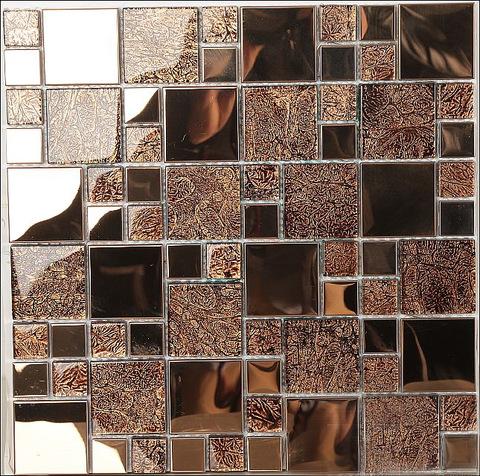 Rose Gold Color Kitchen Wall Backsplash Tiles Waterjet Golden Mosaic Art Tiles Gold Hexagonal Mirror Wholesale Mosaics Products On Tradees Com