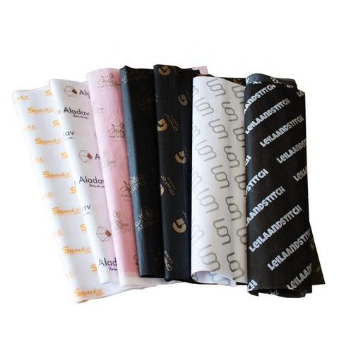 Popular custom printed logo wrapping paper tissue custom tissue paper pictures & photos