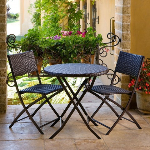 Bistro 3 Piece Folding Patio Dining Sets For Small Spaces Garden Table And Chairs All Weather Balcon Wholesale Garden Sets Products On Tradees Com,What Color Shirt Goes With Light Purple Pants
