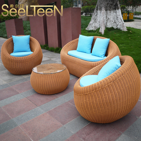 Wholesale rattan outdoor furniture cafe wicker furniture outdoor pictures & photos