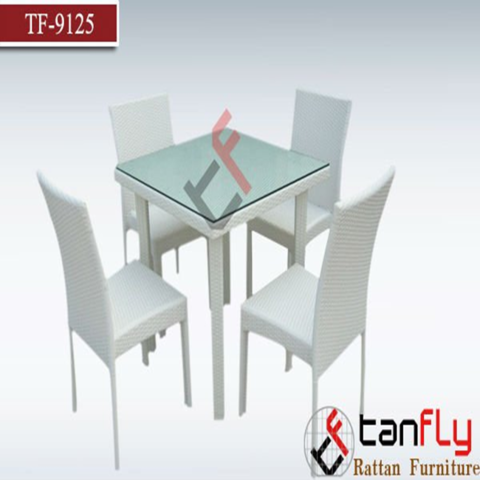 Foshan Modern Square Outdoor Furniture Garden Dining Table Set With 4 Cane Chairs Wholesale Garden Sets Products On Tradees Com