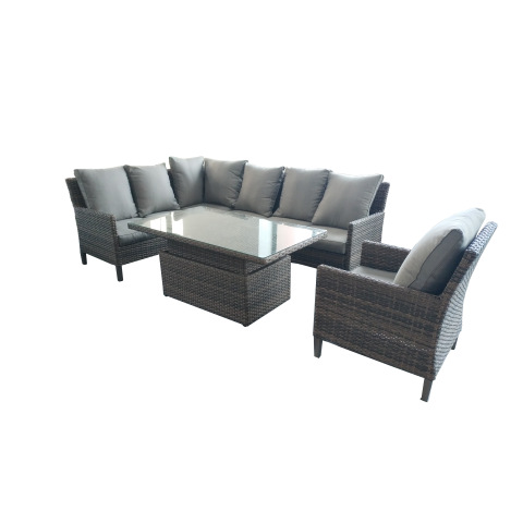 Leisure All Alum Seeweed Rattan Sofa Set Outdoor Rattan Furniture Garden Furniture Rattan Sofa Sets pictures & photos