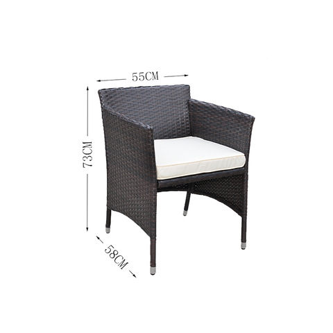 Cheap Rattan Wicker Furniture 3 PCS Outdoor Garden Rattan Bistro Set pictures & photos
