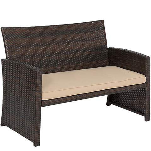 Hot Sale Elegant Garden Outdoor Rattan Furniture 4PCS Rattan Sofa Set pictures & photos