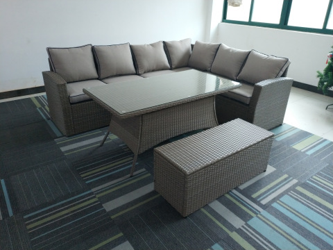Hot Sell Modern Rattan Wicker Furniture Sets Outdoor Rattan Sofa Sets FULL STEEL KD SOFA SET 4PCS pictures & photos