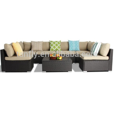 Sectional Coffee table Rattan Wicker Garden Furniture Conservatory Patio Sofa Set rattan wicker outd pictures & photos
