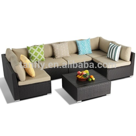 Sectional Coffee table Rattan Wicker Garden Furniture Conservatory Patio Sofa Set rattan wicker outd