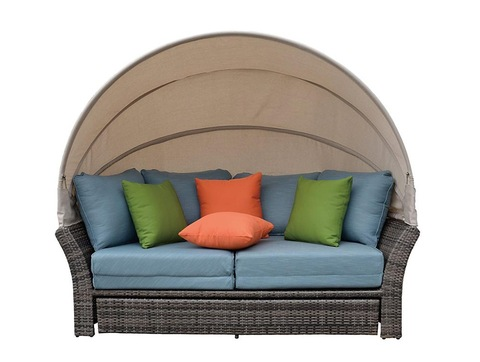Hot Sale Garden Rattan Patio Furniture Outdoor Daybed Lounge Sofa pictures & photos