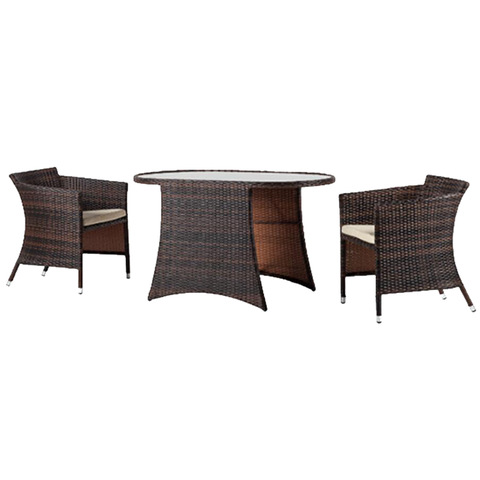 Outdoor Indoor Use Rattan Furniture Bistro Set Two Seats Garden Furniture Set pictures & photos
