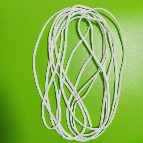 Hot Sale White Flat Elastic Ear Loop For Face Mask Elastic Cord