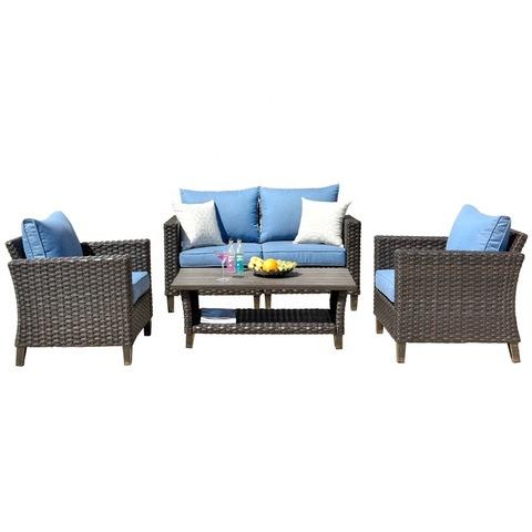 Awalys Vultros Outdoor Garden Furniture Sets 5 Pcs Outdoor Rattan Sofa Wholesale Garden Sets Products On Tradees Com