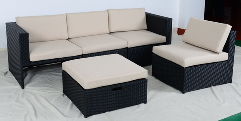 Comfortable Rattan sofa set Patio Rattan Wicker Furniture pictures & photos