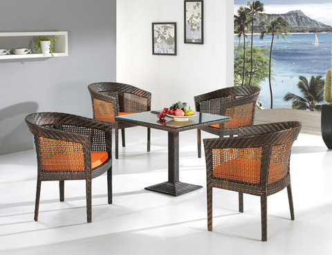five piece coffee table rattan chair home garden balcony patio outdoor furniture pictures & photos