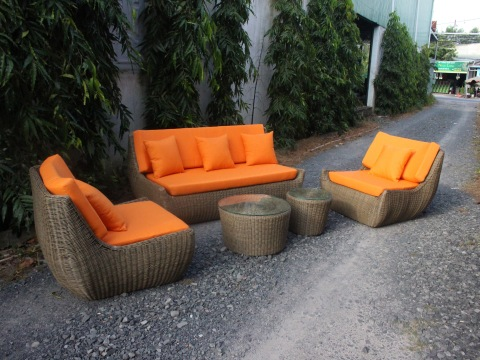 Contemporary all weather durable wicker rattan outdoor sofa set garden furniture for resort holiday  pictures & photos
