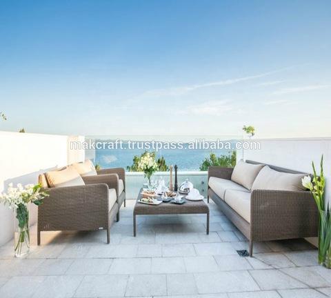 Nice Style Synthetic outdoor rattan wicker sofa set - Outdoor garden sofa set Furniture pictures & photos