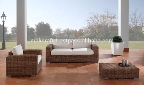 Living room royal outdoor furniture patio sofa set - Wicker rattan outdoor garden furniture sofa set pictures & photos