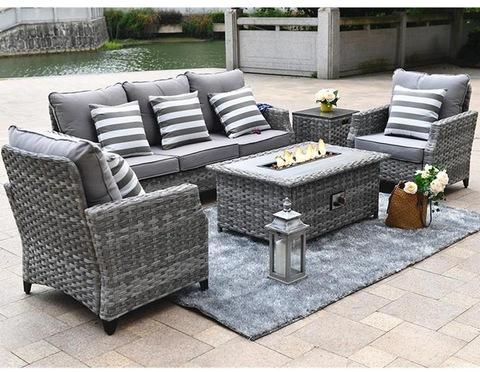 New Design Rattan Furniture, Patio Furniture Fire Pit