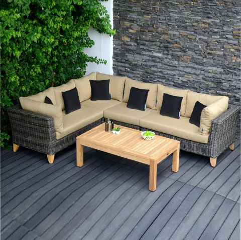 Viet Nam Wicker Outdoor Rattan Furniture Solid Wood Sofa set for Garden Furniture- Poly rattan Wood  pictures & photos