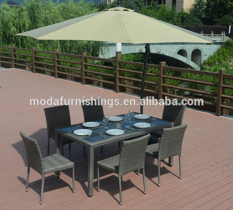 Morden Living Garden Furniture Wicker Rattan 8 Seater Outdoor Dining Setting Table And Chairs Wholesale Outdoor Tables Products On Tradees Com