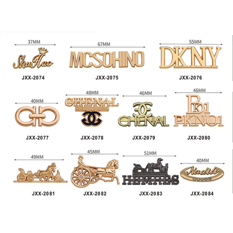 Fashion Design Custom Brand Names Gold Bag Accessories Metal Logo Tag Designer Metal Logo Labels For Wholesale Bag Parts Accessories Products On Tradees Com