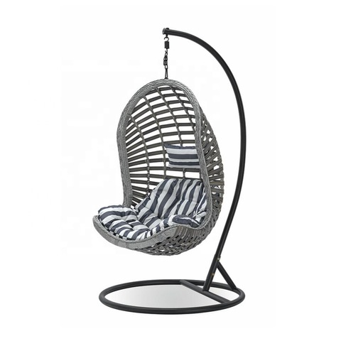 Mid Century Rattan Chair, Outdoor Rattan Wicker Double Seat Hanging Egg Swing Chair With Metal Stand Wholesale Patio Swings Products On Tradees Com