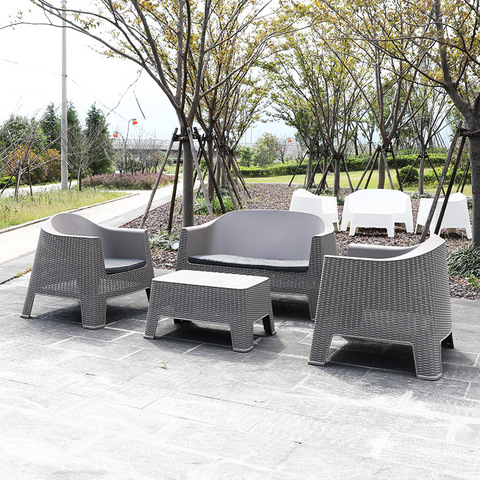 Cheap Patio Hotel Lounge Rattan Plastic Outdoor furniture Garden