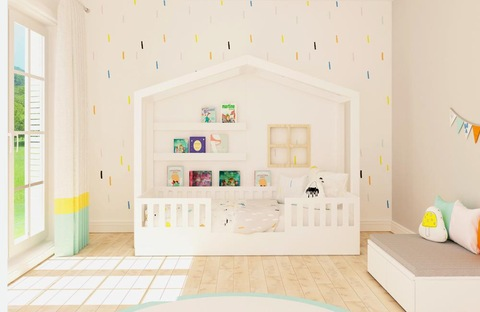 Kids Bedroom Furniture Children Bed House Frame Solid Wood Twin Reading Nook Bed Wholesale Children Beds Products On Tradees Com
