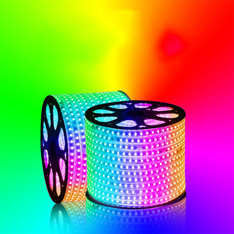 5m 300 Lamps SMD RGB Colorful LED Light Strip Waterproof Remote Control Flexible Neon Strip Light Tube Outdoor Decoration Light, Wholesale LED Landscape Lamps products on Tradees.com