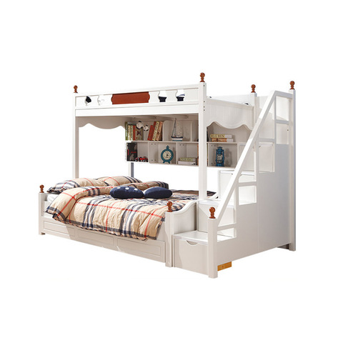 Wooden Separable Ivory Toddler Bunk Beds With Mattress And Stair Bunk Beds With Mattresses Wholesale Modern Furniture Products On Tradees Com