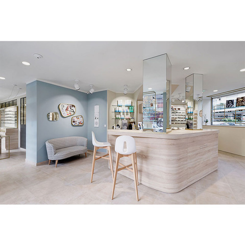 Modern Interior Design Creative Custom Wooden Optical Store Layout With Lights Wholesale Display Racks Products On Tradees Com
