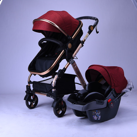 W china 3 in 1 baby stroller custom high end baby buggy china factory alloy frame baby pram