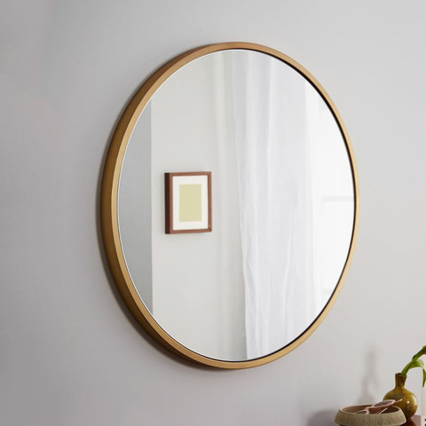 Vanity Mirror Hotel Home Decorative Sexangle Round Square Shape Black Gold Silver Frame Mirror For Wall Decor Wholesale Mirrors Products On Tradees Com