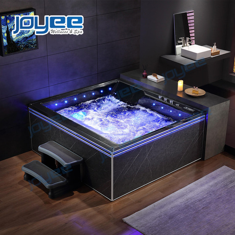 Joyee Indoor Hot Tub Spa Tub Jacuzzi 3 4 Person Black Luxury Square Massage Spa Bath Bathtub Whirlpool For Bathroom Wholesale Bathtubs Whirlpools Products On Tradees Com