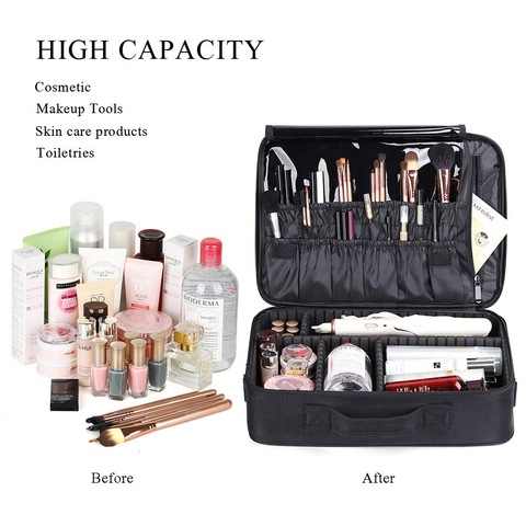 Portable Makeup Bag Professional Oxford