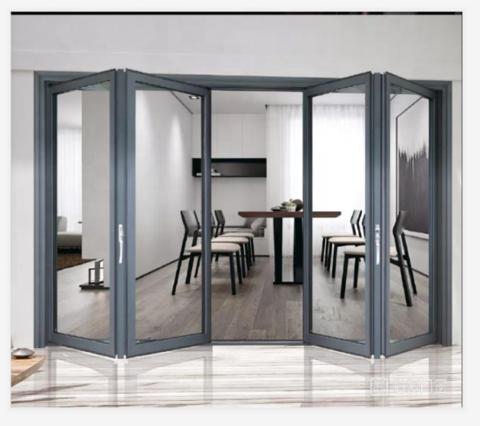 Bulk Order Good Price Exterior Bi Folding Door For Patio Aluminum Glass Folding Door Wholesale Doors Products On Tradees Com