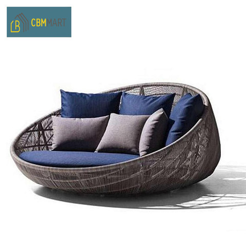 Daybed Outdoor Furniture Waterproof Round Swing Bed Garden Rattan Sun Bed Outdoor Sofa pictures & photos
