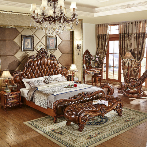 royal luxury classical king size bedroom furniture sets for sale