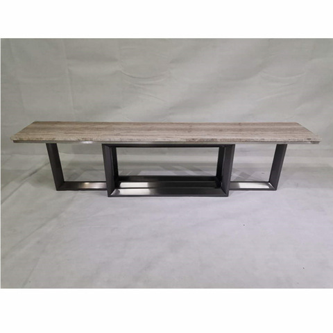 Custom Home Wooden Top And Stainless Steel Base TV Stand Living Room Furniture Decor Table