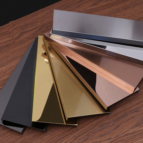 Mirror Stainless Steel U Shape Floor Skirting Decorative Wall Board Wholesale Flooring Accessories Products On Tradees Com