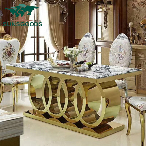 Dining Room Sets 6 Dining Chairs Marble Dining Table Set Modern Wholesale Modern Furniture Products On Tradees Com