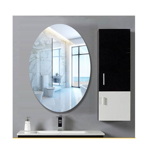 Simple Frameless Makeup Mirror Oval Mirror Bathroom Mirror 50 X 60cm Wholesale Mirrors Products On Tradees Com