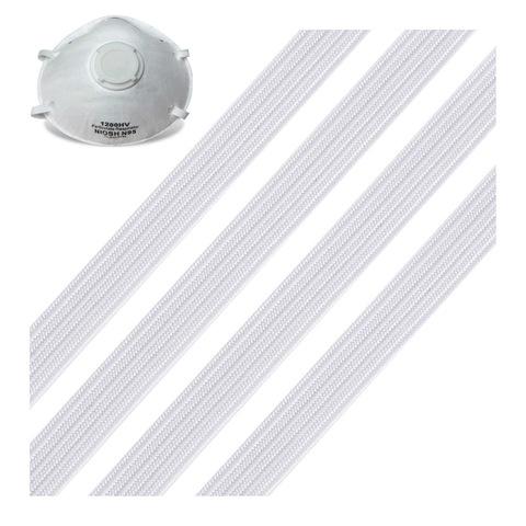 Stock Immediate Shipping Black White Flat 5mm Elastic Band For