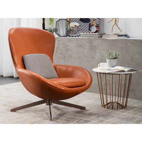Leather egg chair modern chairs living room leisure