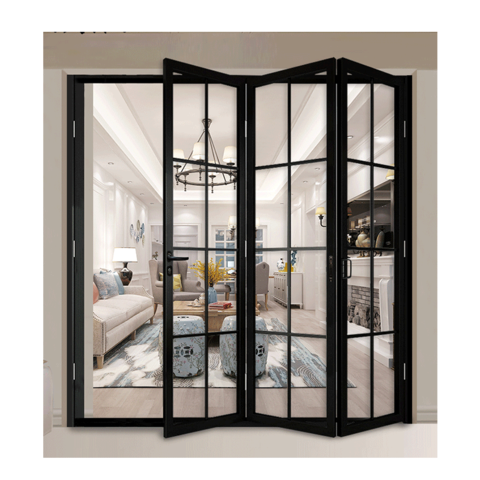 New Design Exterior Accordion Aluminium Folding Door Bi Fold Screen Door Double Glazing Aluminum Bi Folding Doors Design Wholesale Doors Products On Tradees Com