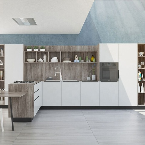 New Model Fashion Simple Design White Pvc Kitchen Furniture Kitchen Cabinets Wholesale Other Service Products On Tradees Com