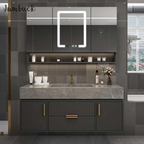 ensuite vanity design luxury dark grey modern style