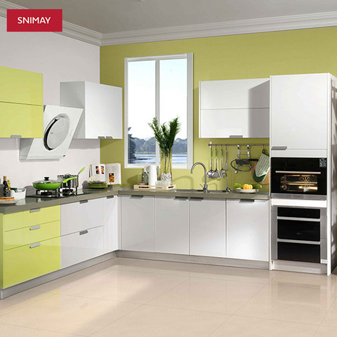 Best Selling Modern Style High Gloss L Shaped Kitchen Cabinet Laminate Kitchen Cabinets Wholesale Other Service Products On Tradees Com