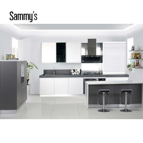 2019 Modern Black Italian Kitchen Set Cabinet With Dining Table Design Wholesale Other Service Products On Tradees Com